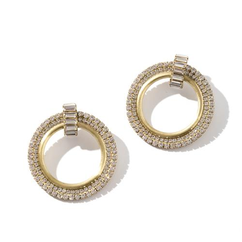 Large 70's inspired round earrings. Statement earrings for Autumn/Winter 2017