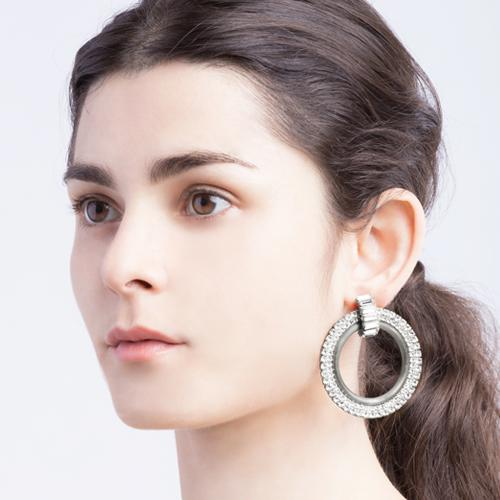 Ali  Earrings in Antique Silver