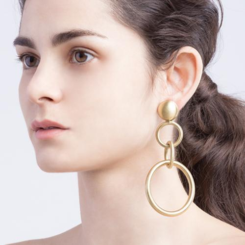 Bianca  Earrings - Gold Brass