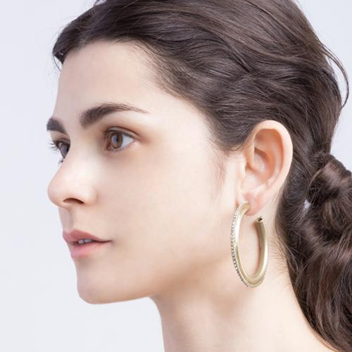 Joni Earrings - Gold Brass