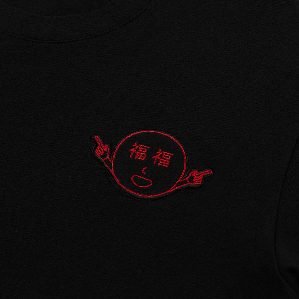 福福 LUCK T-SHIRT - BLACK