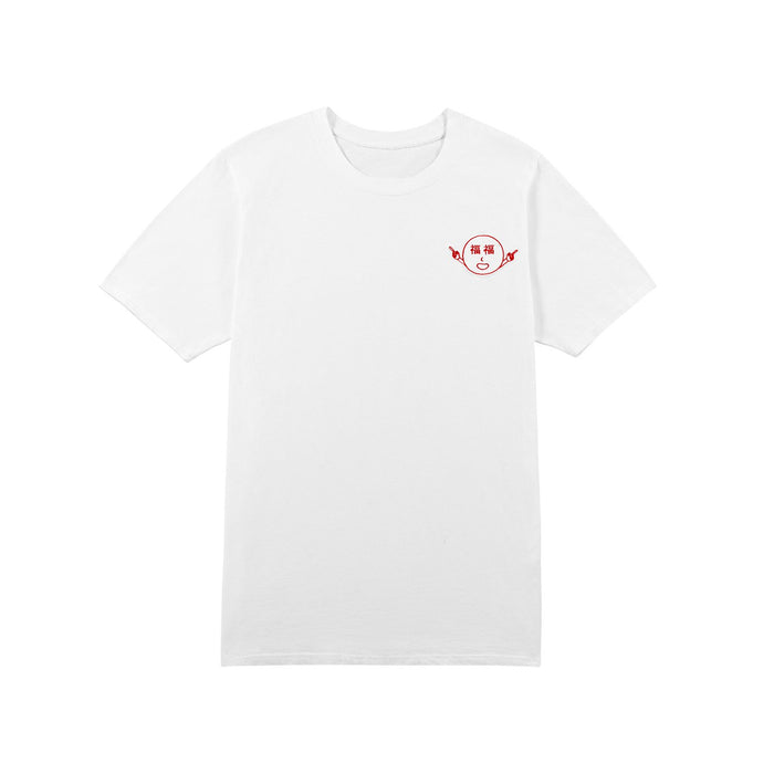 福福 LUCK T-SHIRT - WHITE