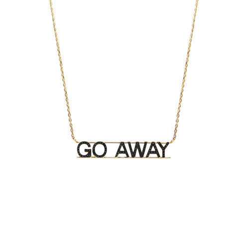Go Away Black Diamond Necklace
