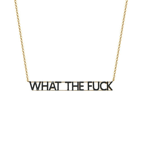 What The Fuck Black Diamond Necklace