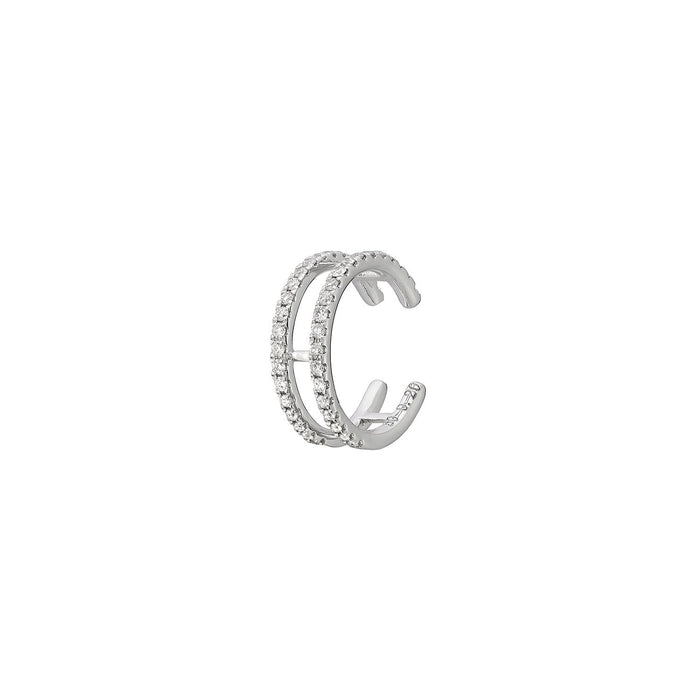 DIAMOND DOUBLE CIRCLE SINGLE EAR CUFF