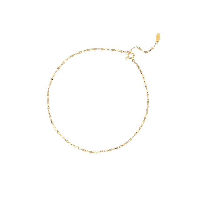 DELICATE PINCHED ANKLET (2 COLORS)
