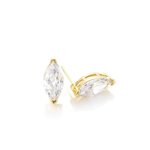 Solitaire CZ Marquise Earrings ( 2 Colors )