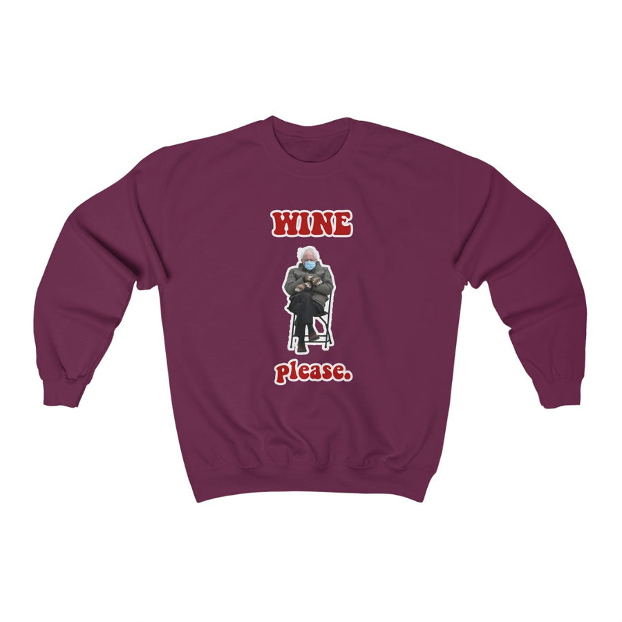 Wine Please Bernie Crewneck