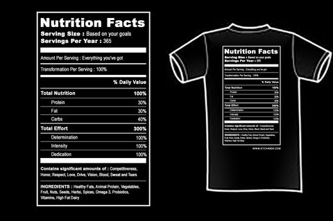 Short Sleeve T-Shirt - Nutrition Facts