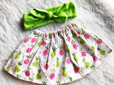 Pineapple 2 PC SET Skirt and Headband  FREE SHIPPING