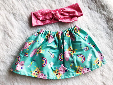 Pepa Pig 2 PC SET Skirt and Headband  FREE SHIPPING