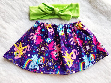 Little Pony 2 PC SET Skirt and Headband  FREE SHIPPING