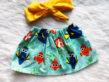 Nemo 2 PC SET Skirt and Headband  FREE SHIPPING