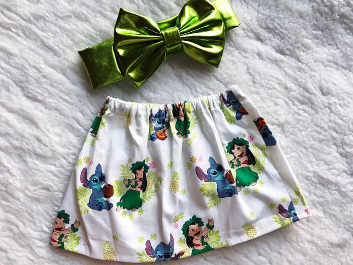 Lilo & Stitch 2 PC SET Skirt and Headband  FREE SHIPPING