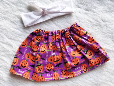Halloween 2 PC SET Skirt and Headband  FREE SHIPPING