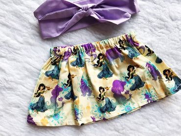 Princess 2 PC SET Skirt and Headband  FREE SHIPPING