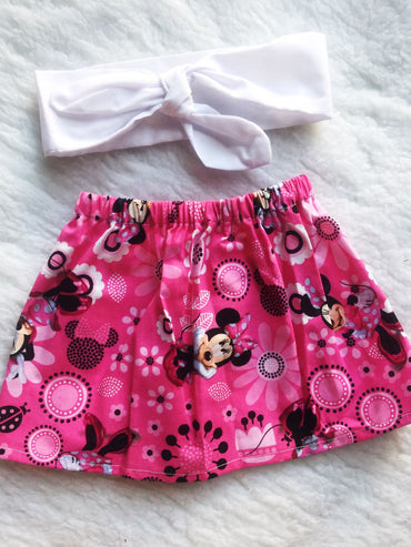 Minnie 2 PC SET Skirt and Headband  FREE SHIPPING