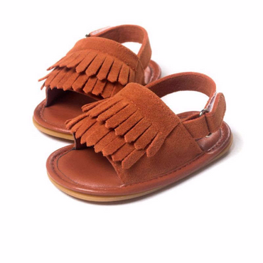 Almond Roasted Suede Sandals $19