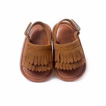 Brown Suede Sandals $19
