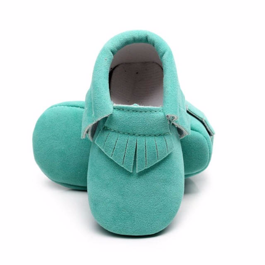 Aqua Green Suede Shoes $14
