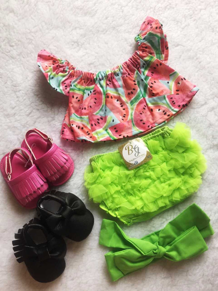 Watermelon 3 PC SET Shoulder Shirt $28 + FREE SHIPPING