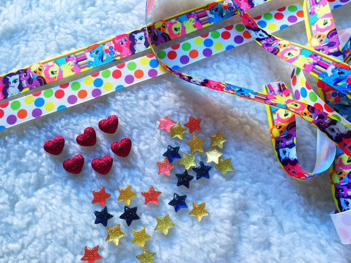 $5 Little Ponny 7/8 Grosgrain Ribbon & beads Bundle