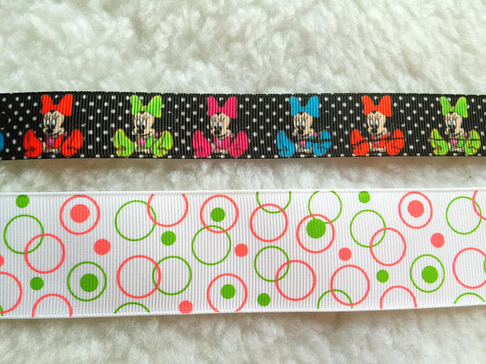 $5 Disney Minnie 7/8 & 1 1/2  Grosgrain Ribbon