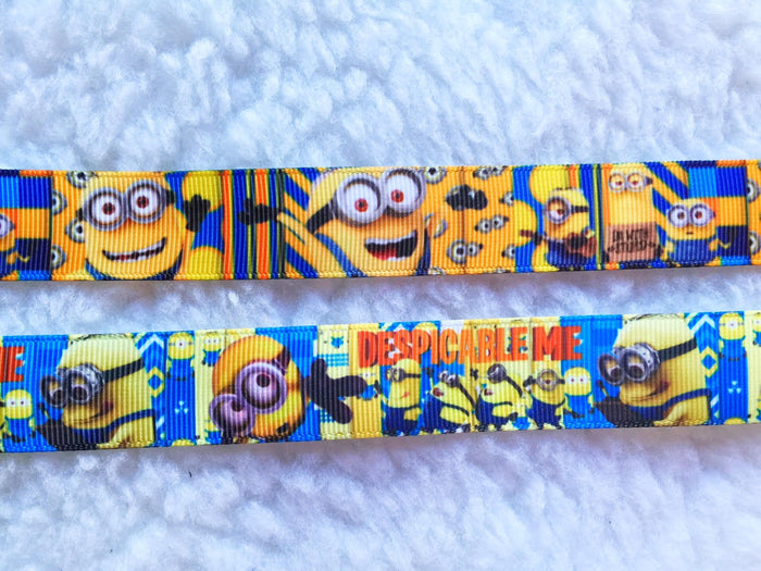 $4 Minion Grosgrain Ribbon 7/8