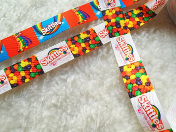 $4  Skittles 7/8 Grosgrain Ribbon
