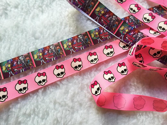 $4 Monster High 7/8 Grosgrain Ribbon