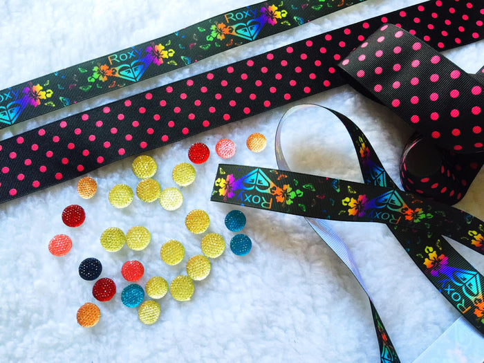 $5 Roxy 7/8 Grosgrain Ribbon & beads