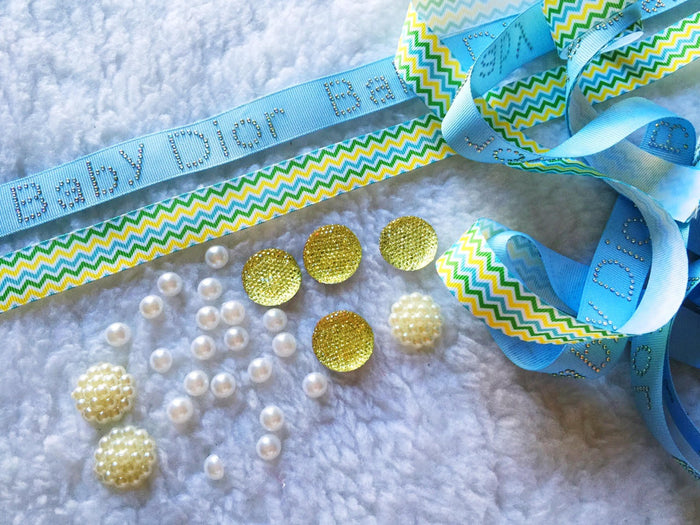 $5 Dior 7/8 Grosgrain Ribbon & beads