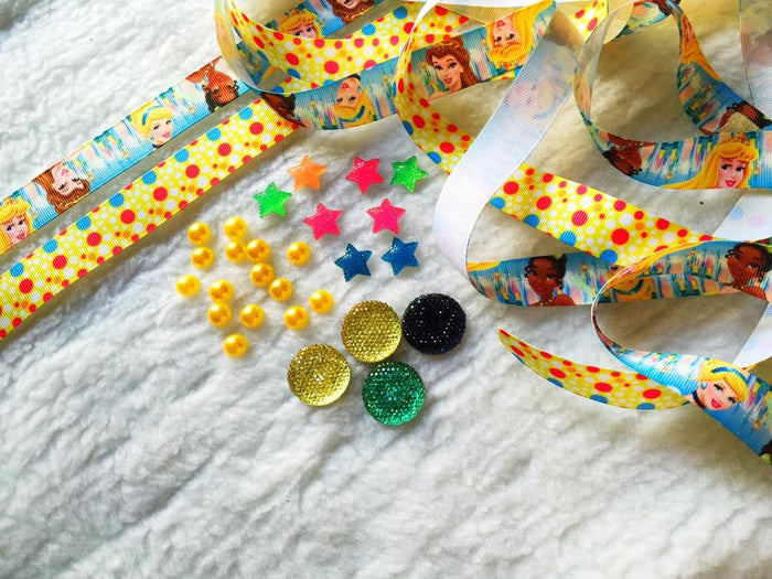 $5 PRINCESS 7/8 Grosgrain Ribbon & beads