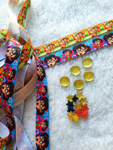 $5 Chavo del 8 Grosgrain Ribbon 7/8 & beads