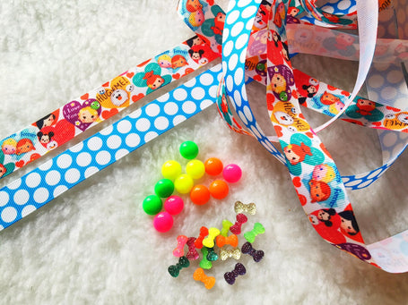 $5 Grosgrain Ribbon 7/8 & beads
