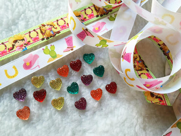 5   7/8 Grosgrain Ribbon & beads