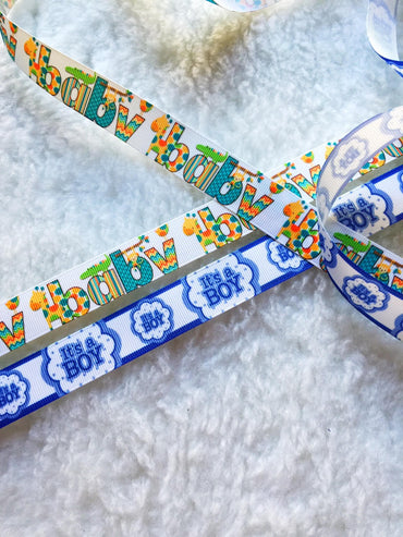 $4 Its a Boy  7/8 Grosgrain Ribbon
