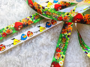 $4 Angry Birds 7/8 Grosgrain Ribbon