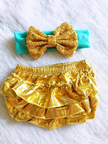 Gold Diaper Cover $16
