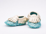Leather Turquoise Shoes $23