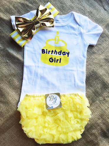 Birthday Girl Baby Set $29