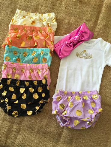 Diaper Cover & Headband $12
