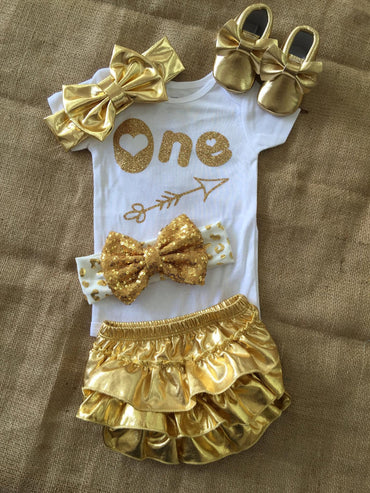 One Gold Baby Set outfit $45