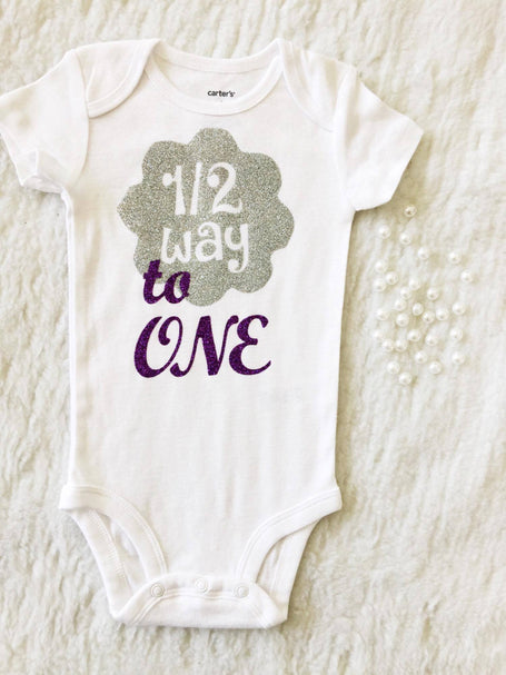 Half Birthday Onesie $13