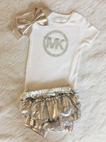 Silver Baby Set $29