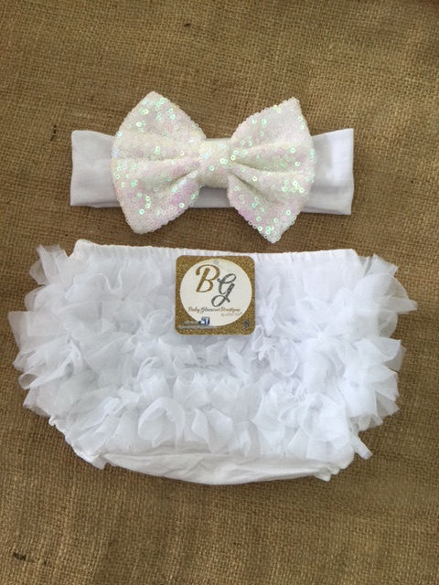 White Diaper Cover $14.50