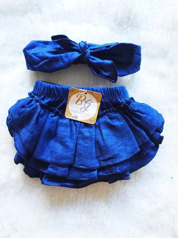 Denim Diaper Cover $14.50