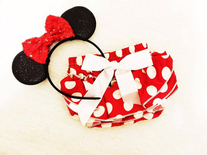 Red Dots Diaper Cover $16