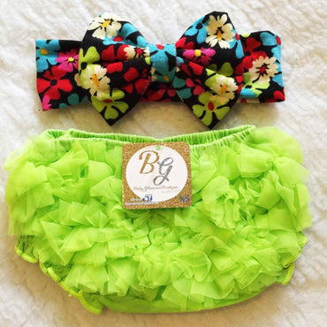 Bright Green Diaper Cover $14.50