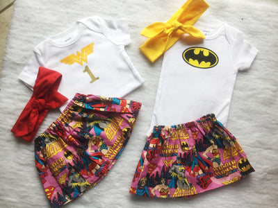 Batman & Wonder Woman Outfit Set